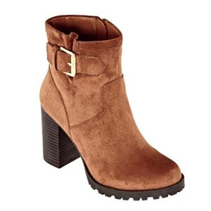 Ana Womans Ronnie Whisky Suede Ankle Boots Sz 9M